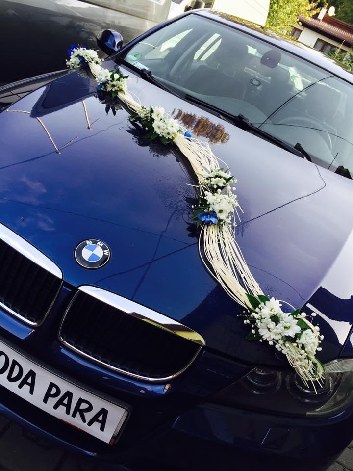 Tylko na zewnątrz Dekoracja samochodu na ślub - Wisła, Ustroń Koniaków, Jaworzynka i DM81